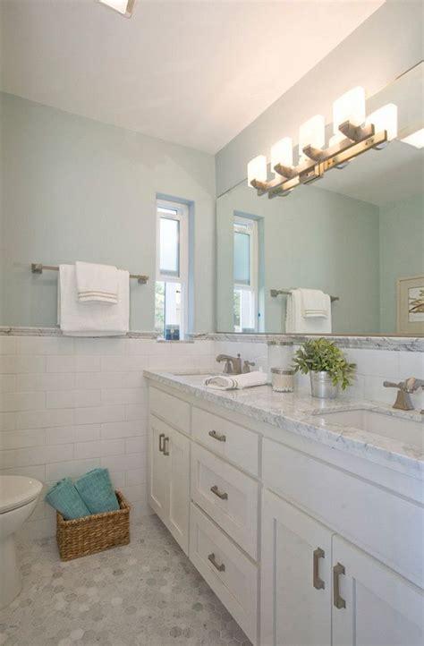 kohler brockway bathroom with gray walls painted in benjamin