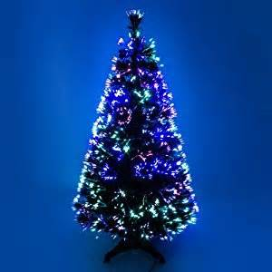 2ft green artificial fibre optic christmas xmas tree with multi led source 60cm amazon co uk