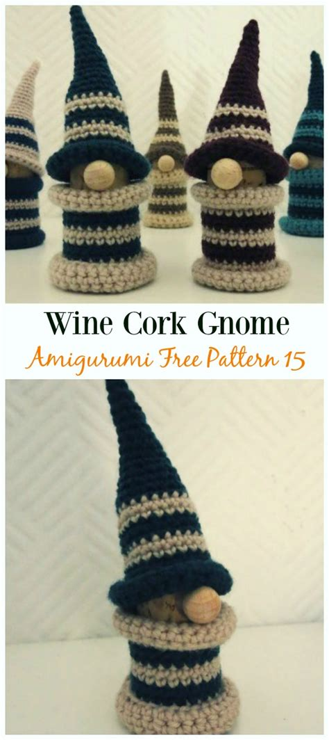 amigurumi gnome toy softies crochet patterns