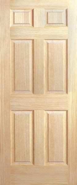 6 Panel Wood Interior Doors by 6 Panel Raised Clear Pine Stain Grade Solid Interior