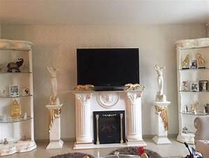Säulen Fürs Wohnzimmer : medusa wohnwand s ulenvitrinen kamin griechisch barock regal s ulen wohnzimmer deko k nig ~ Sanjose-hotels-ca.com Haus und Dekorationen