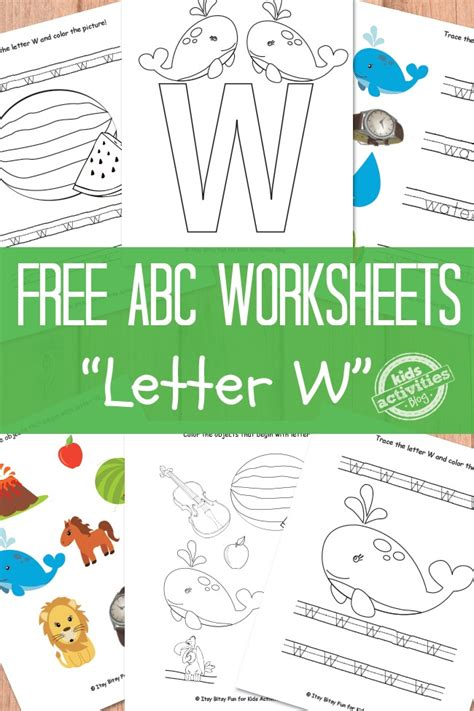 letter w activities letter w worksheets free printable activities