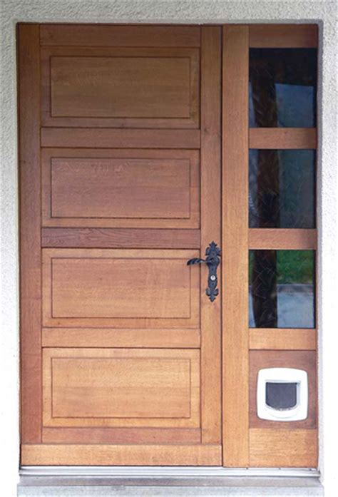 porte avec chatiere integree portes d entr 233 e sp 233 ciales buchs fr 232 res sa