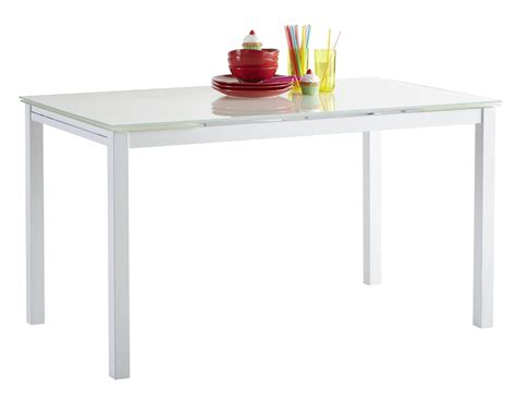 table de cuisine blanche contemporaine extensible m 233 tal et verre mulane table de cuisine cuisine