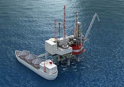 Oil Rig Offshore Platform Tanker Drilling 3d