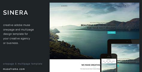 adobe muse mobile templates sinera creative muse template by museframe themeforest