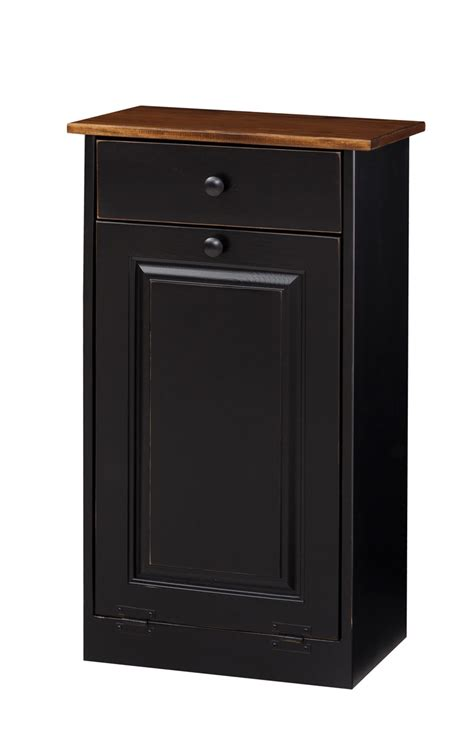 Wood Trash Cabinet by Trash Bin Cabinet W Wood Amish Furniture Connections