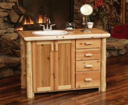 rustic cedar log bathroom vanities log vanity