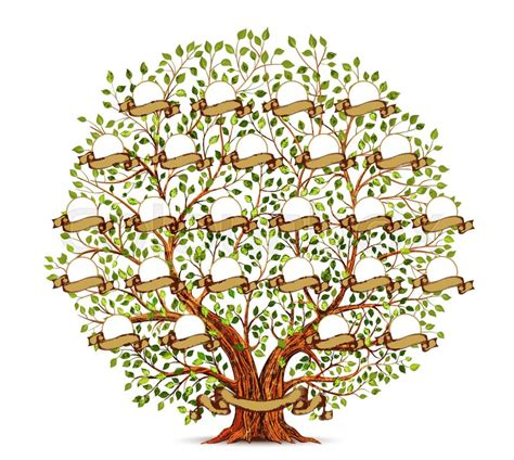 family tree template vintage vector stock vector