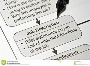 Job Description Stock Photo Image Of Brief Note