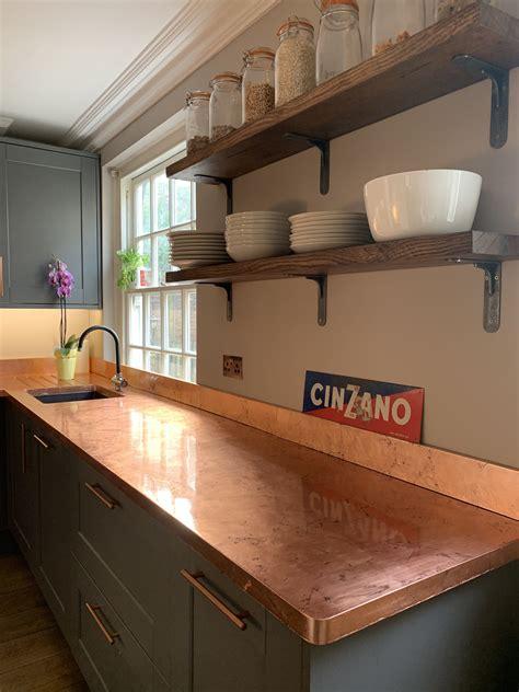 copper kitchen counter worktop copper kitchen countertop