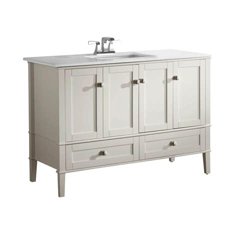 48 vanity with top and sink simpli home chelsea 48 in vanity in soft white with