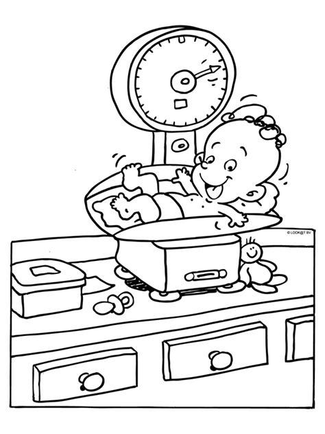 Kleurplaat Geboorte Baby by Kleurplaten Baby Geboorte