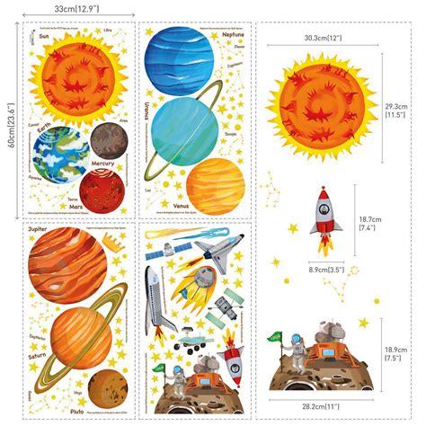 Wandtattoo Kinderzimmer Planeten by Wandsticker Planeten Sonnensystem Weltraum Wandsticker