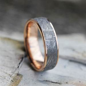 handmade engagement rings to take your relationship to eleven With wedding ring made from meteorite