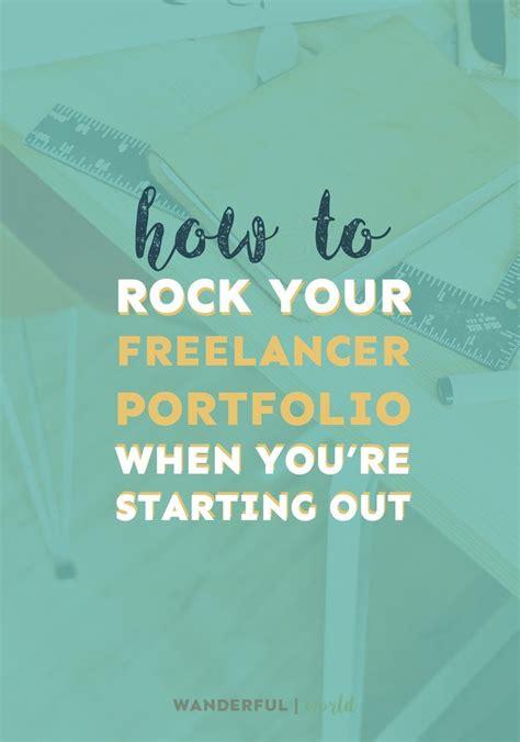 rock  freelancer portfolio  youre starting
