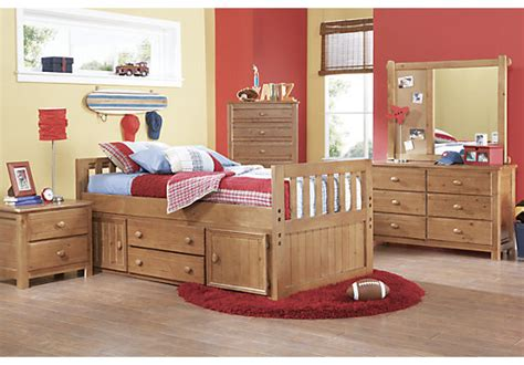 Creekside Taffy 5 Pc Twin Captain's Bedroom