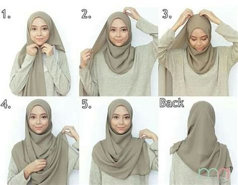 tutorial hijab pashmina simple terkini  mudah