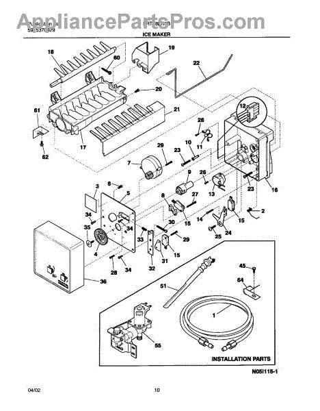 frigidaire  wiring harnessice maker internal