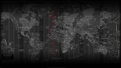 Zone Map Clock Wallpapers Zones Background Desktop