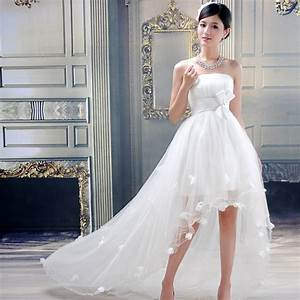 aliexpresscom buy customize high low short beach With short cheap wedding dresses