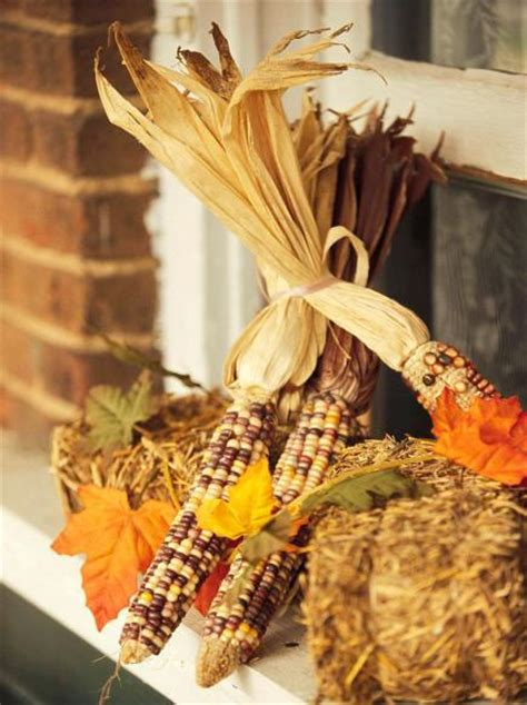 dried corn projects  fall decorating midwest living