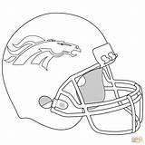 Coloring Broncos Denver Helmet Printable Supercoloring Bronco Football Sheets Helmets Colors Super sketch template