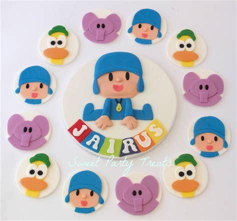 pocoyo cake  edible cupcake decorations sweet party
