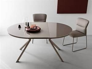 Table A Rallonge : cb4739 giove table rallonge connubia calligaris en m tal avec plateau en verre stratifi ~ Teatrodelosmanantiales.com Idées de Décoration