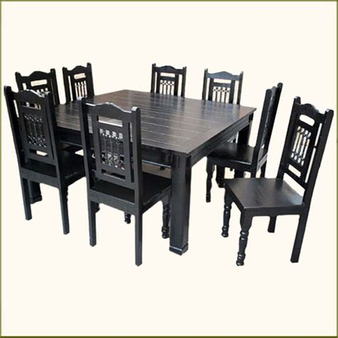 square dining table set solid wood rustic square dining table chairs set for 8