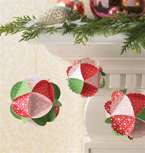 martha stewart crafts holiday paper kit ornament