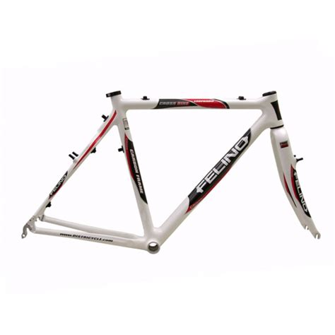 cadre cyclo cross carbone felino leopardo blanc carbon direction fourche carbone