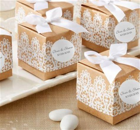 rustic lace wedding favor boxes 24ct party city