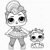 Lol Coloring Dolls Surprise Pages Series sketch template