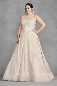 white by vera wang macrame plus size wedding dress style With vera wang plus size wedding dresses