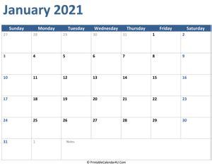 editable january  calendar