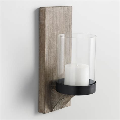 Candle Sconces - rustic wood sconce world market
