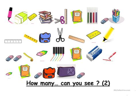 How Many School Objects Can You See? Worksheet  Free Esl Printable Worksheets Made By Teachers