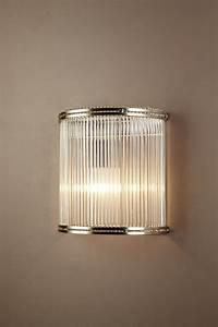 Verre 1 Light Wall Lamp Half Round Glass