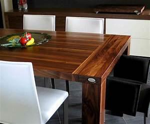 Table Cuisine Moderne : table de cuisine en bois ~ Teatrodelosmanantiales.com Idées de Décoration