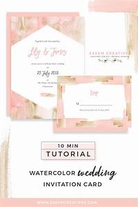 how to make a blush and gold watercolor wedding invitation With diy wedding invitations on mac