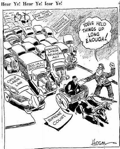 Interstate Balances Political Checks Cartoon Deal Fdr