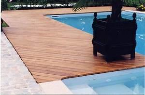 Terrasse En Caillebotis : lames terrasse en teck fixation invisible par clips ~ Premium-room.com Idées de Décoration
