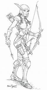 Staino Psylocke Archers Fc06 sketch template