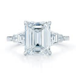 emerald shape engagement rings ring settings ring settings for emerald cut stones