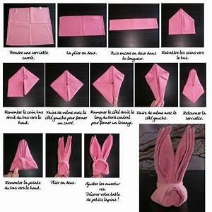 Pliage Serviette Lapin Simple : pliage en forme de lapin origami paper work pliage serviette paques pliage serviette lapin ~ Melissatoandfro.com Idées de Décoration