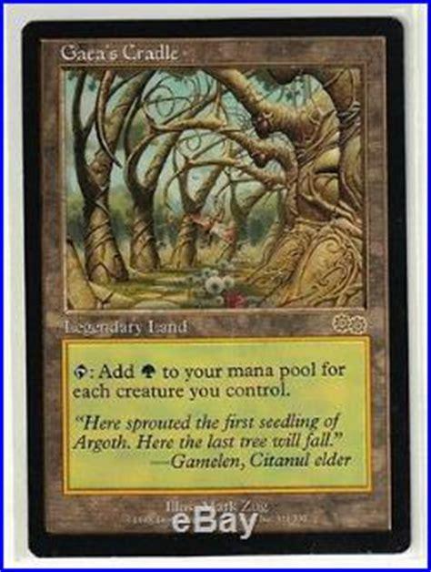 The trading card game magic: Magic the Gathering Urza's Saga Gaea's Crade Rare Legendary Land Card | Magic The Gathering Rare