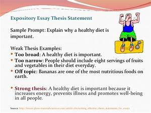 Examples Of Thesis Statements For Expository Essays Will I Do My  Examples Of Good Cause  Effect Essay Thesis Statements