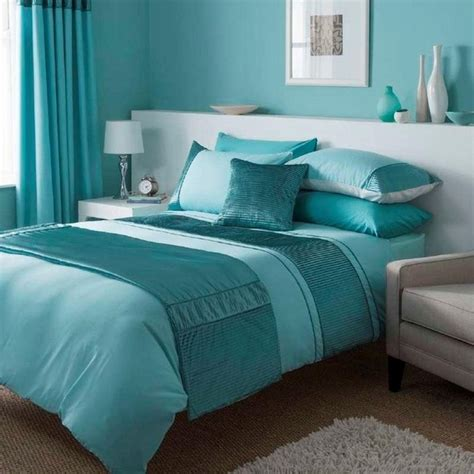 Because the room receives plenty of natural light, the dark color on the lower portion of the wall feels grounding rather than overwhelming. Fascinating turquoise bedding sets - add a fresh touch to ...