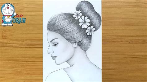 Each girl's drawing begins with the drawing of a circle for the head and cross lines, just as you see on the sketches above. How to draw a girl with a Messy Bun Hair - step by step ...